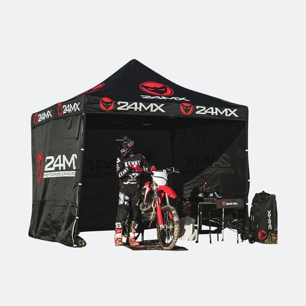 MX24 Blackweek: 24MX Rennzelt Easy-Up mit 3 Seitenwänden 99,99€ / ohne 79,99€ zzgl. VSK