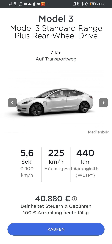 34880€ nach BAFA: Tesla Model 3 mit 3000€ Rabatt (6000€ weiteren Rabatt durch BAFA)