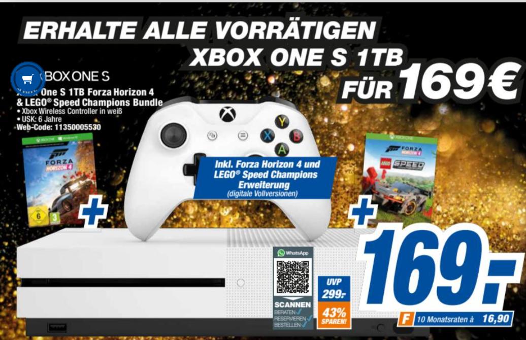 [lokal Expert Brandenburg] Microsoft Xbox One S1TB + Forza Horizon 4 LEGO Speed Champions
