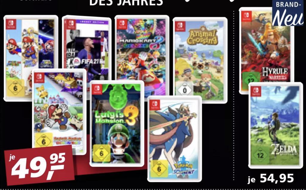 [real Family & Friends + Steuervorteil 27 / 28.11] diverse Nintendo Switch Spiele z.B. Super Mario 3D All-Stars , Luigi's Mansion 3