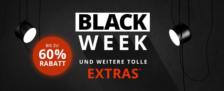 Black Week bei Lampenwelt.de (13% / 15% / 18% Rabatt)