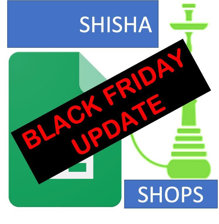 Black Friday Update - Shisha / Hookah Shops Online