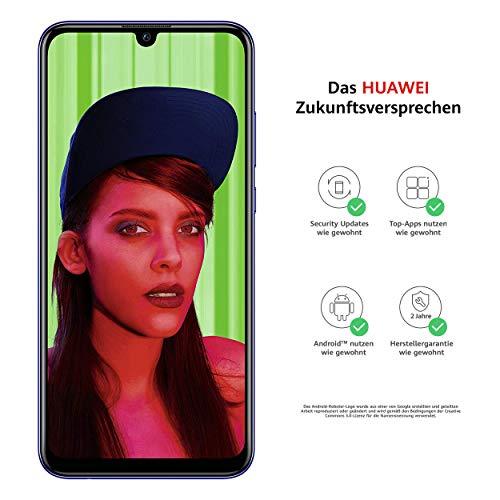 Huawei P Smart (mit Google Services) BUNDLE (display 15.77cm (6.21 inches), 64GB, 3GB RAM, Android 9.0) Starlight Blue +16 GB Speicherkarte