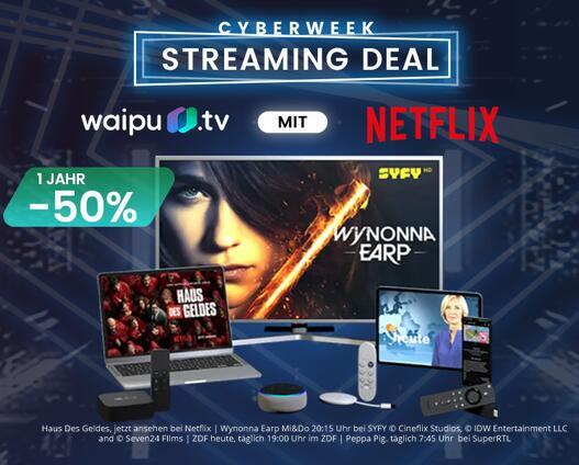 Waipu TV und Netflix für 12 Monate, 11,75 pro Monat für ein Jahr