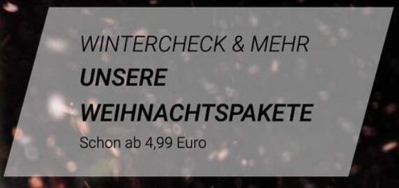 Werkstatt: Wintercheck bei Vergölst 4,99€ für einen Check deines Autos + Auffüllen der Wischwasserflüssigkeit   19,99€ inkl. Wischerblätter