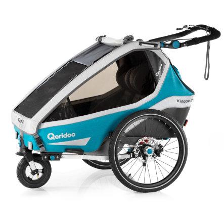 Qeridoo Kinderfahrradanhänger Kidgoo2 Sport Petrol