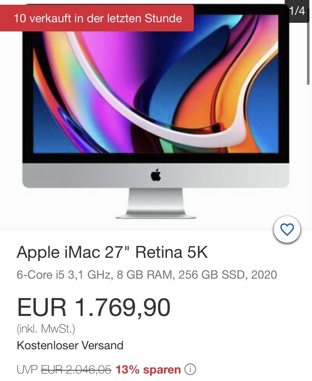 "iMac 2020 27"" 5K 256GB SSD, 6-Core, Gravis"