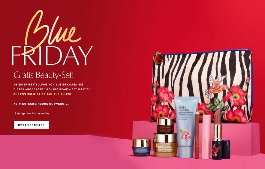 30% auf alles bei Estée Lauder + Beauty-Set geschenkt ab 60€
