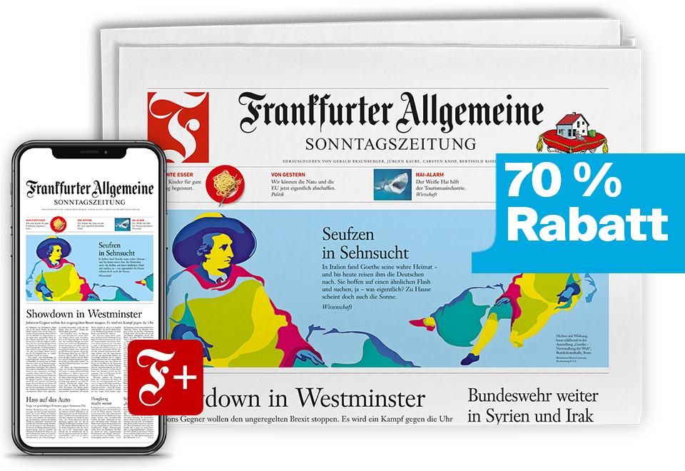 Frankfurter Allgemeine Sonntagszeitung (FAS) - 4 Wochen Abo (Print & Digital) - Kündigung notwendig