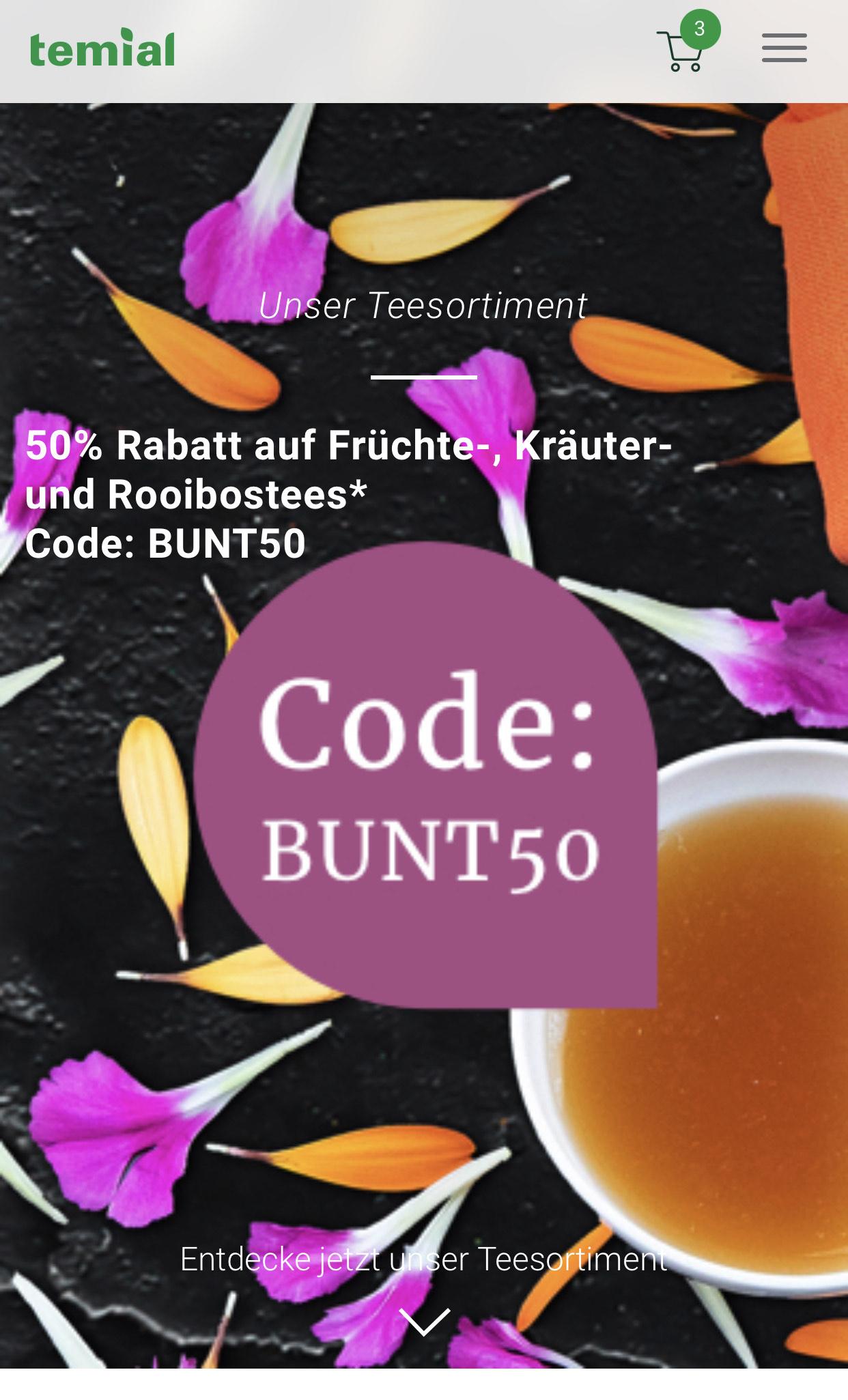 Tee für Temial von Vorwerk 50% auf Kräuter // Früchte // Roobiostees