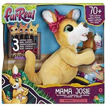 furReal Mama Josie, das Känguru, interaktives Plüschspielzeug in Gelb, Amazon