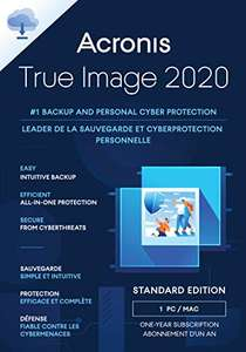 Acronis True Image 2020(Kostenloses Upgrade auf 2021er Version) | 1 PC/Mac |Unbegrenzte Laufzeit | Aktivierungscode per Email|