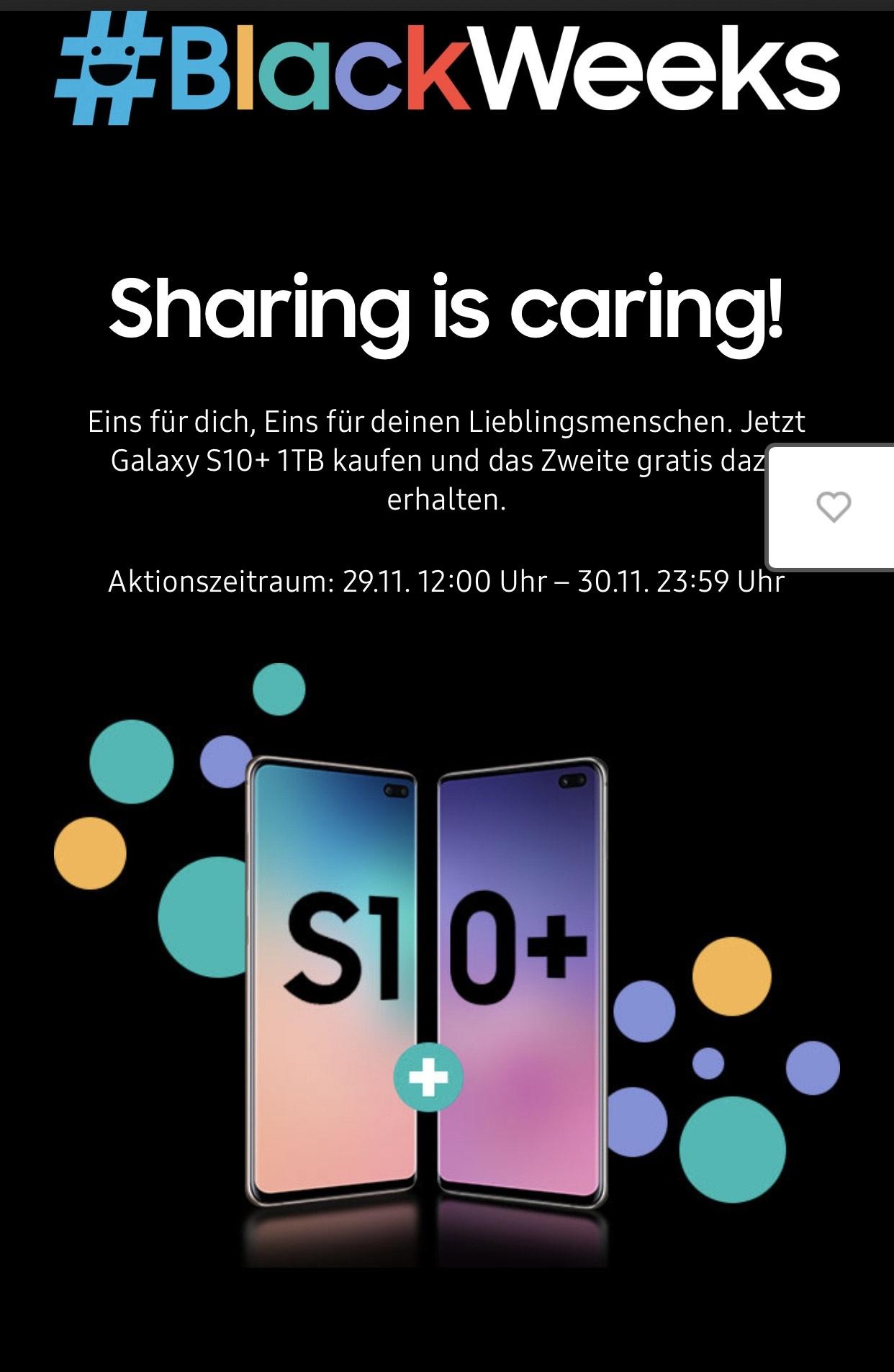 2x Samsung Galaxy S10+ 1TB 12GB RAM