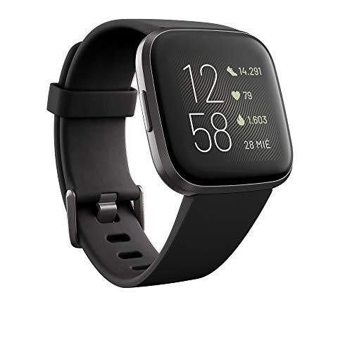Fitbit Versa 2 – Gesundheits- und Fitness-Smartwatch mit Sprachsteuerung, Schlafindex und Musikfunktion, vers Farben!