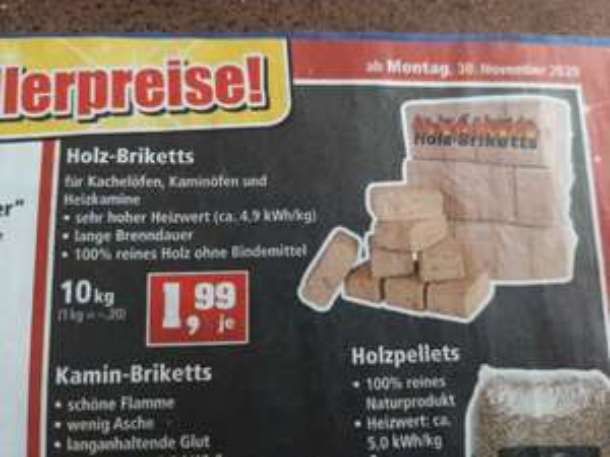 [Lokal Thomas Philipps] Holz-Briketts im 10kg Paket