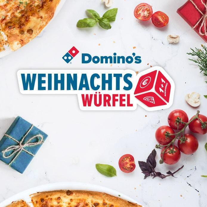 [Domino's Pizza] Weihnachts-Würfel: z.B. 2 für 1 auf Pizza, Pizza-Brötchen, Pasta, Lava Cake usw.