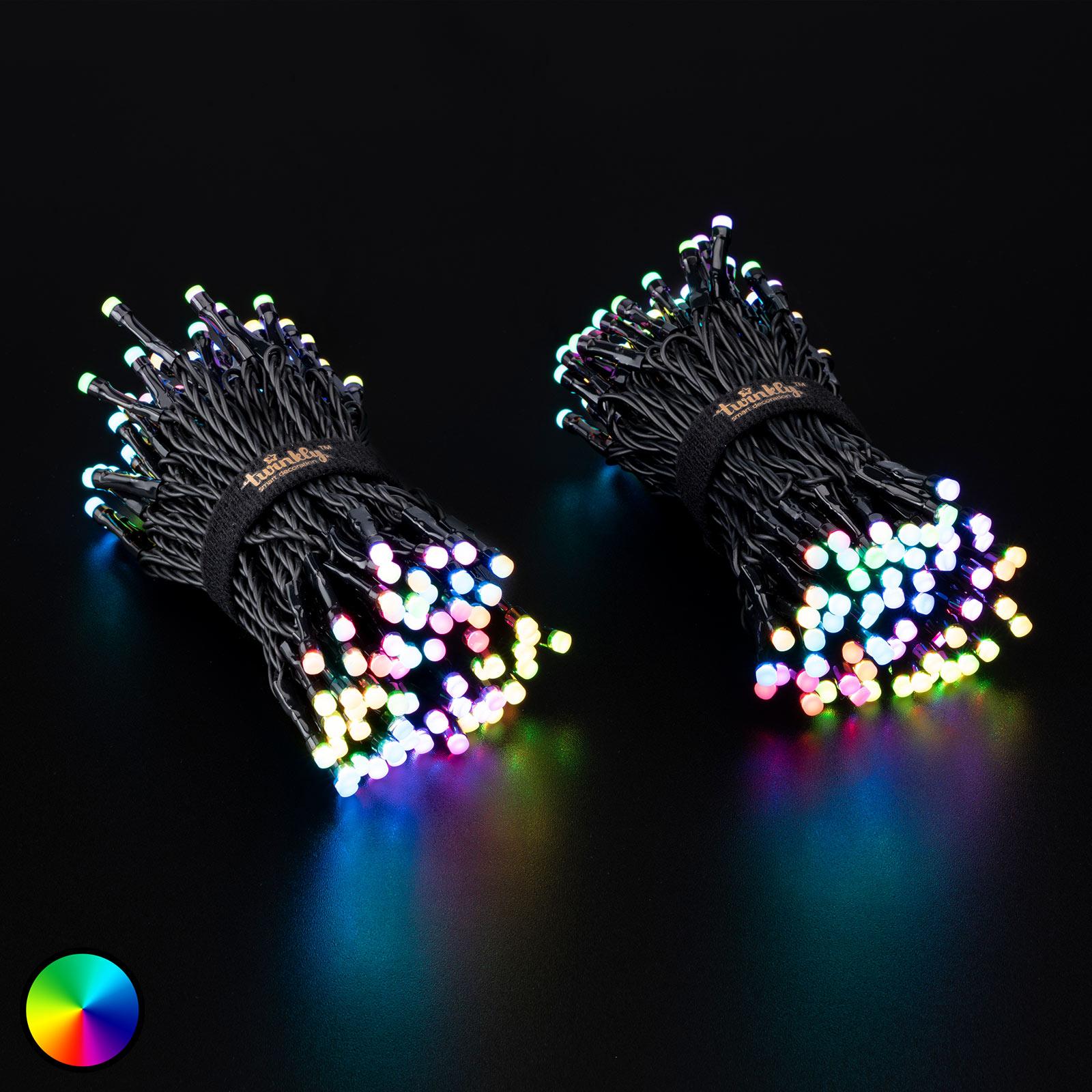 Twinkly LED Lichterkette RGB schwarz 20m 250 LED 87,20 € - Zwei für 158,22 € (79,11€)