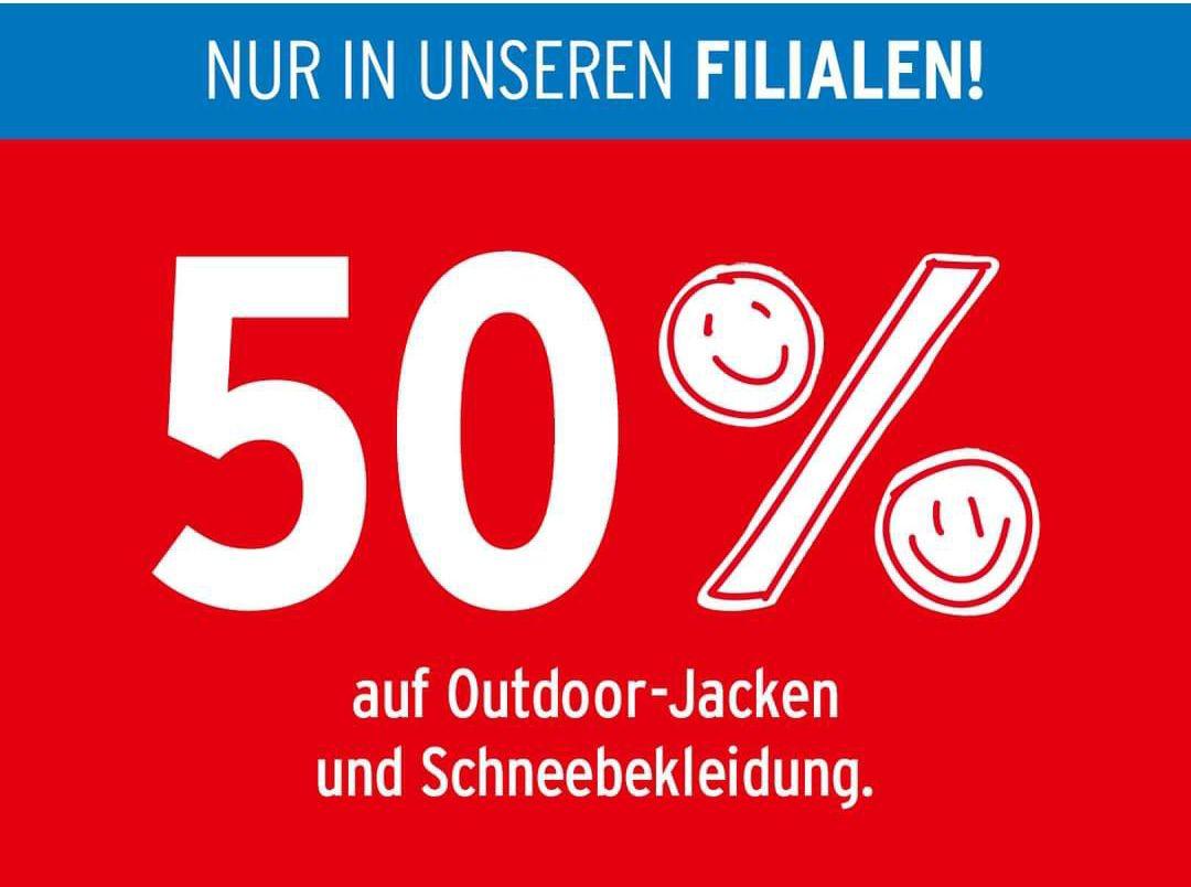 [Ernsting's Family] 50% auf Outdoor-Jacken und Schneebekleidung