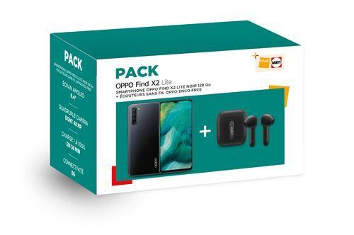 "Oppo Find X2 Lite 6,4"" FHD+ AMOLED 8/128GB (SnapD. 765, 4025 mAh, 321K Antutu, 48 MP Quad-Cam, USB-C, NFC) + Oppo Enco Free TWS Kopfhörer"