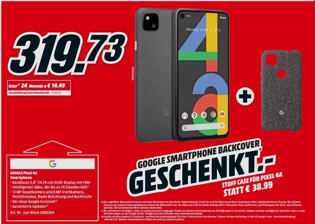 "Google Pixel 4a + original Stoffcase für 309,73€ (6+128GB, Android 11, 5.81"" OLED, SD730G, 12.2MP OIS, Fingerprint, NFC)"