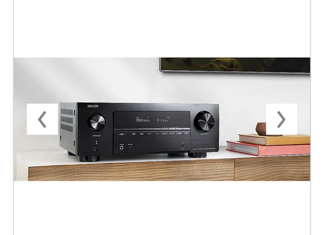 Denon AVR-X2700H 7.2 AV Receiver Schwarz 8K Dolby Atmos WLAN HEOS Alexa