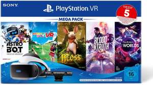 Sony Playstation VR Mega Pack 3 inkl. Headset & Camera + 5 Spiele (Astro Bot, Everybody's Golf VR, Moos, Blood & Truth, VR Worlds)