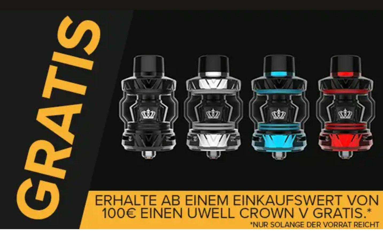Uwell Crown 5 kostenlos ab 100€ Bestellwert