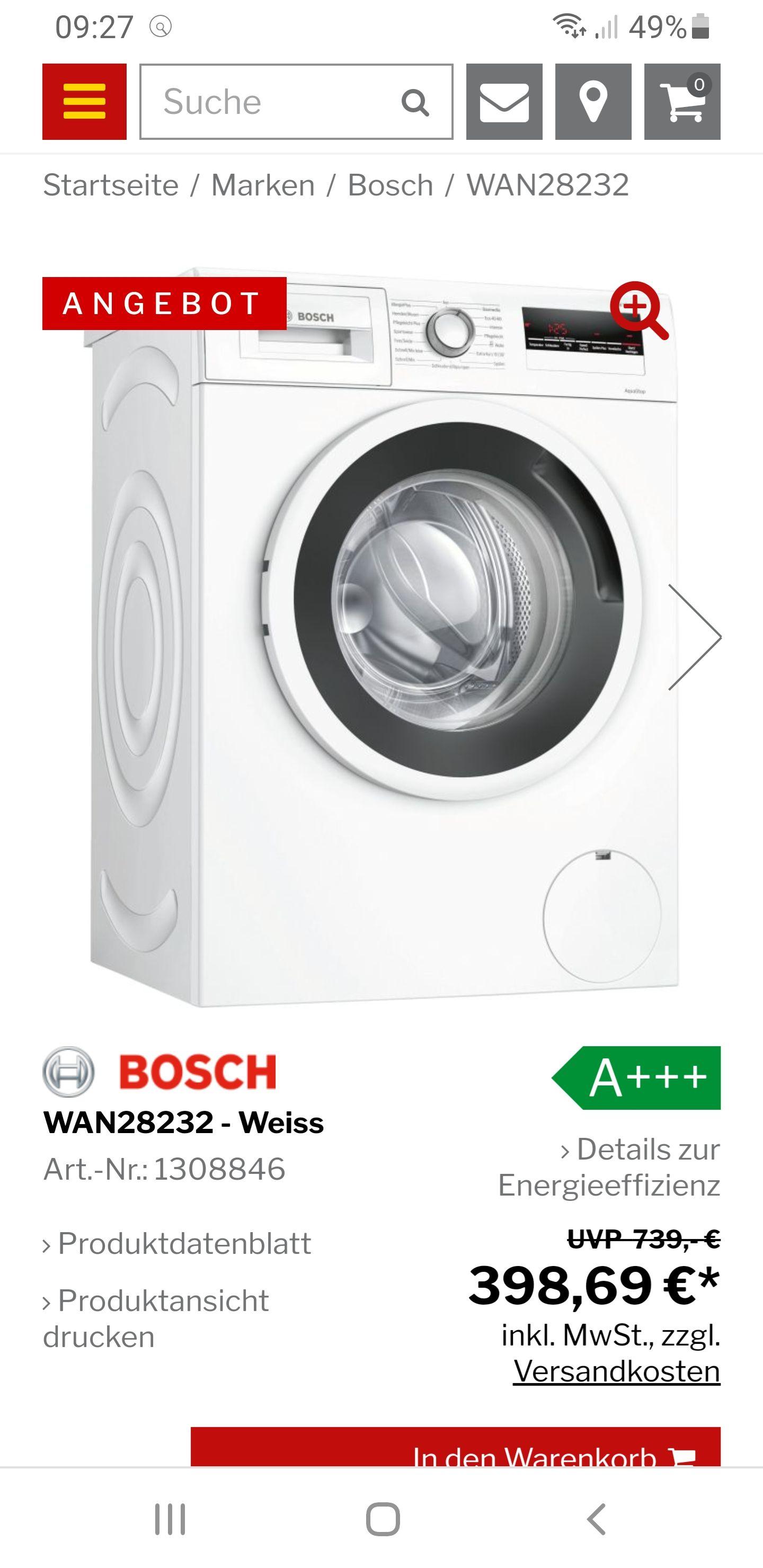 Waschmaschine Bosch Serie 4 WAN28232