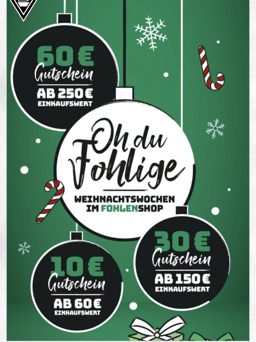 Borussia Mönchengladbach Adventskalender Gratis Gutschein zur Bestellung ab 60€