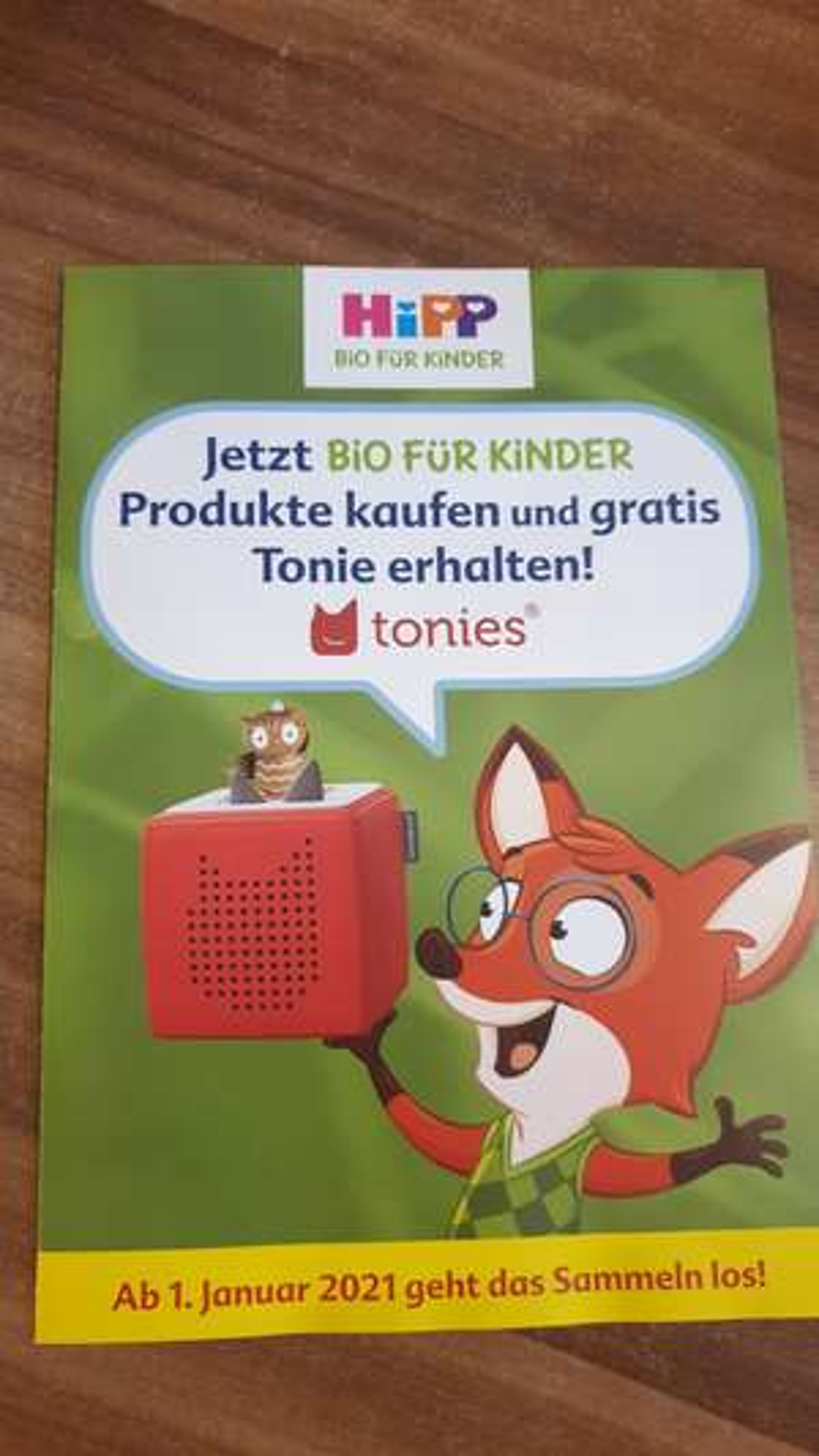 Gratis Tonie beim Kauf von Hipp Bio Produkten für 50€