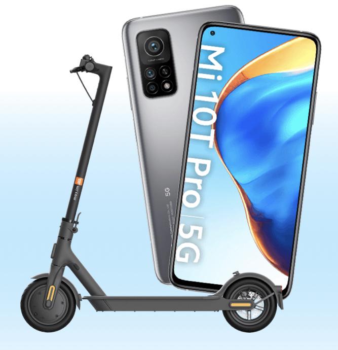 Xiaomi Mi 10T Pro 5G 256GB + Xiaomi Mi Scooter 1S für zusammen 649,90€ inkl. Versandkosten