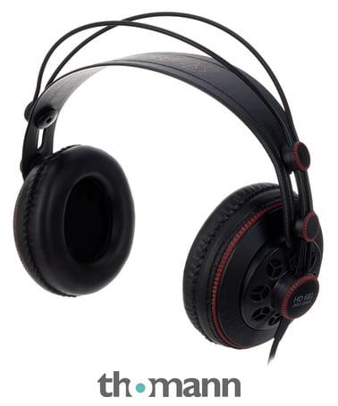 Superlux HD 681, (ähnlich AKG 240, Samson SR850), gute halb offene Kopfhörer