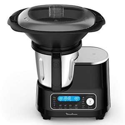 [Amazon.fr] Moulinex Click Chef Küchenmaschine, 5 automatische Programme, 25 Funktionen, Dampfgarer, Mixer, 3,6 l, 1400 W, HF456810