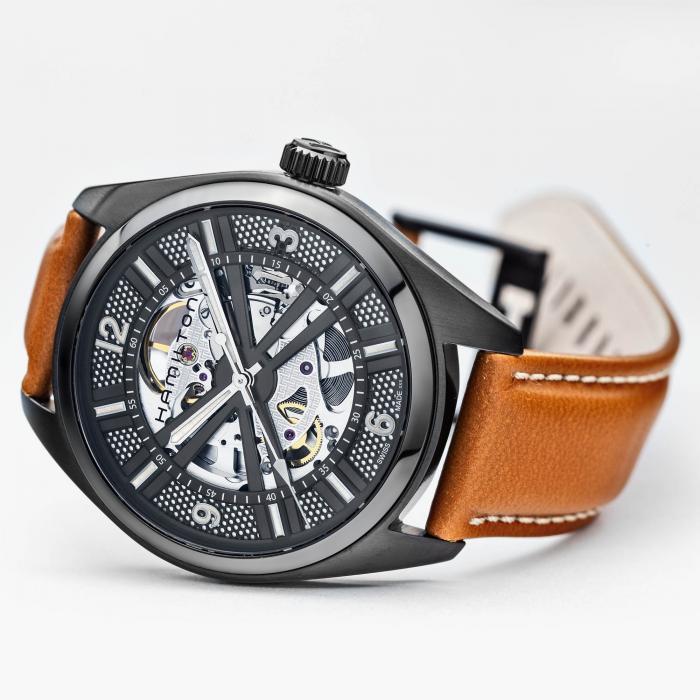 Khaki Field Skeleton H72585535 / Automatik Uhr / Hamilton / Deutscher Händler