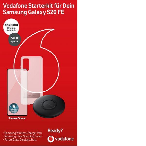 Vodafone Samsung S20FE Starterkit Bestpreis auch Apple und Huawei Sets, QI Wireless Ladepad