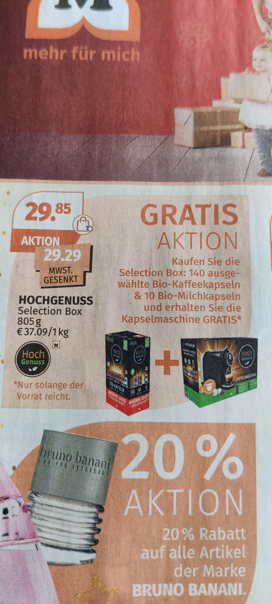 Gratis Kaffee-Kapsel Maschine beim Kauf der Hochgenuss-Selection Box