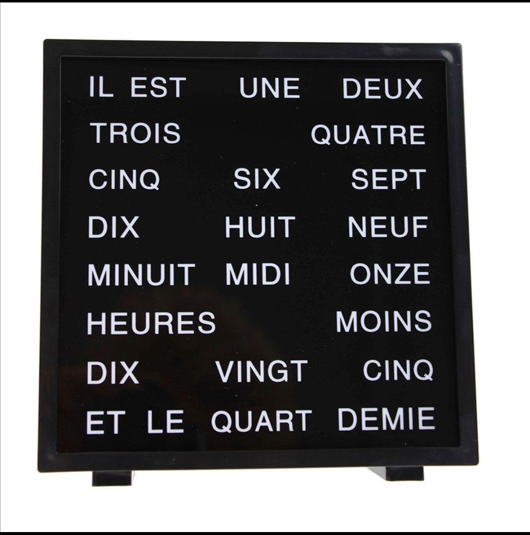 LED Word Clock, Zeit in Worten auf Französisch