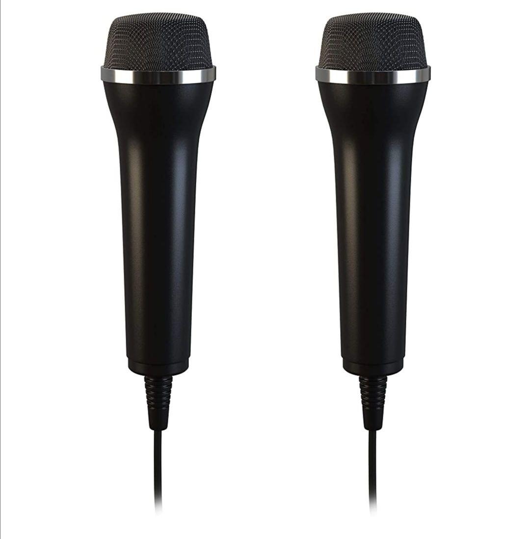 Amazon Prime Mikrofone für Karaoke für PC, Wii, Xbox, Playstation (PS3, PS4, PS4 Pro), Switch, 2er Set (Länge - 2.95 m)