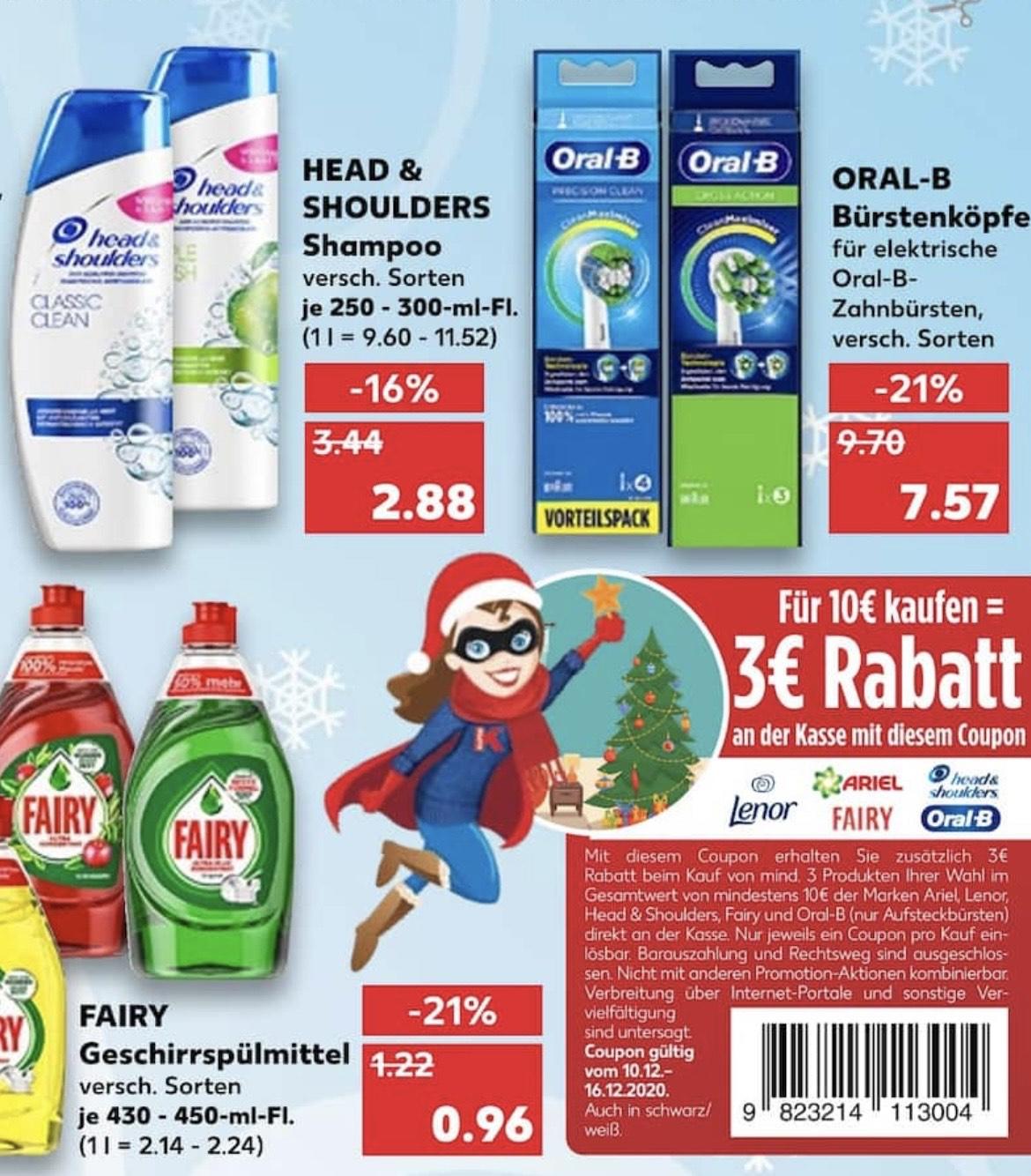 Head & Shoulders mit Coupon zum Superpreis (8,52€ für 4 Flaschen = 2,13€ pro Flasche)