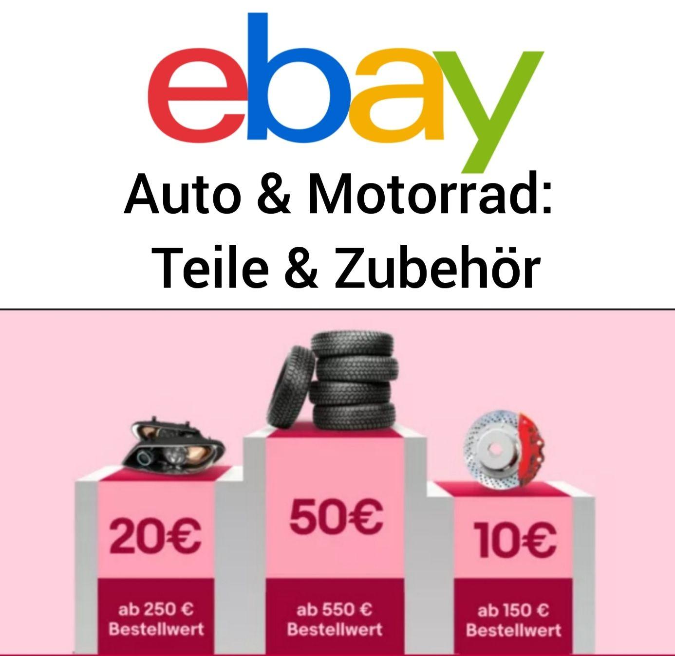 10/20/50€ ab 150/250/550€ MBW in Auto & Motorrad: Teile & Zubehör (z.B. Dunlop Winter Sport 5 205/55 R16 91H M+S Winterreifen für 252,52)