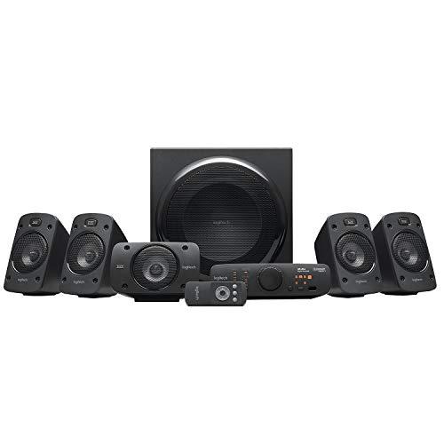 [Amazon.fr Prime] Logitech Z906 5.1 Sound System, Lautsprecher mit 1000 Watt Surround Sound, THX, Mehrere Audio-Eingänge, Fernbedienung