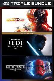 [Xbox One & Series X|S] Star Wars Triple Pack: Squadrons + Fallen Order Deluxe + Battlefront II Celebration (Store BR)