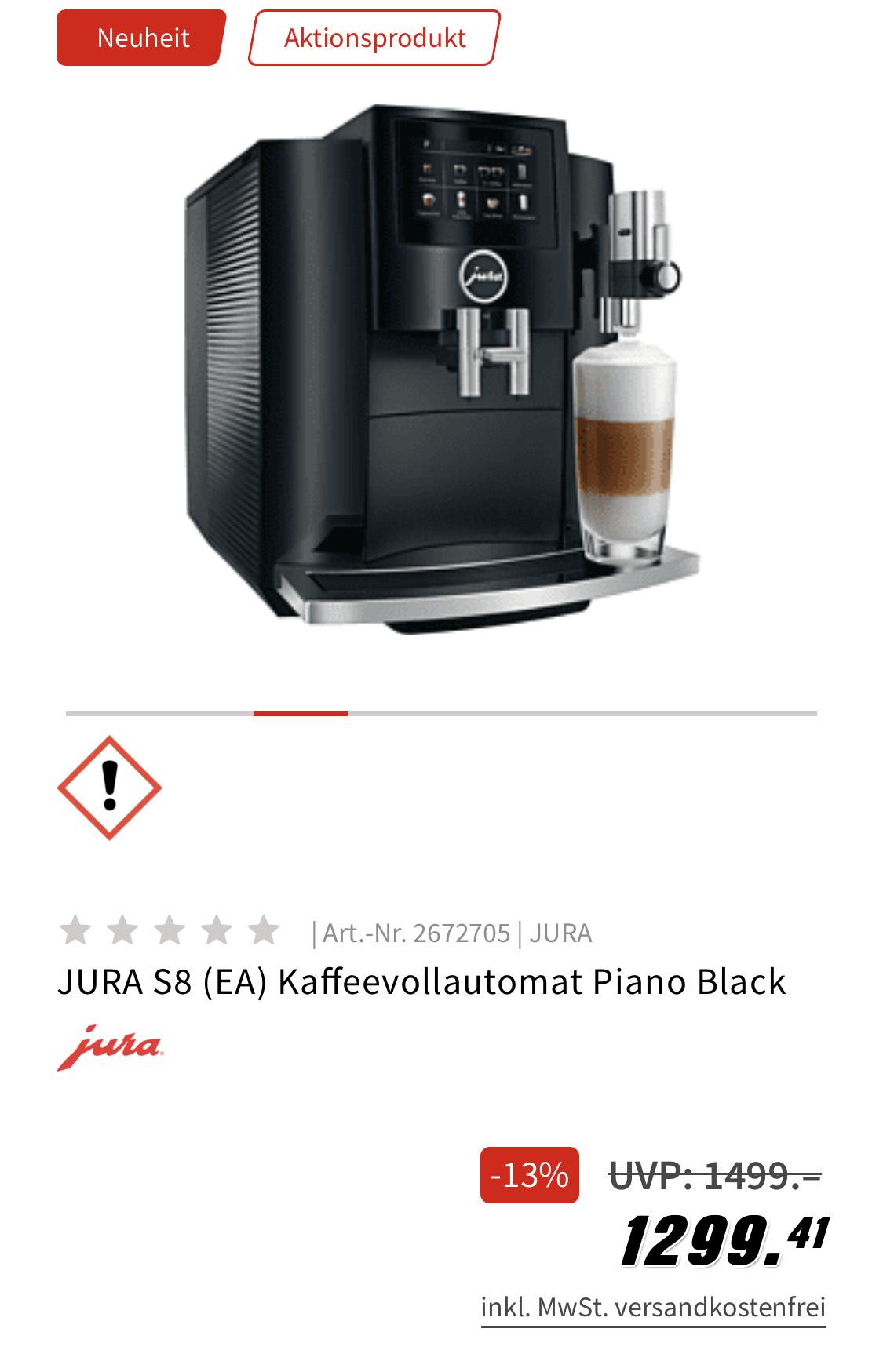 Jura S8 (EA) Piano Black + JURA Cool Control Milchkühler