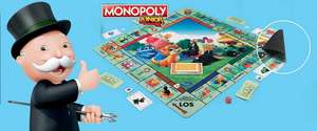 Hasbro Monopoly Junior XL Spielmatte 61x61cm (Deutsche Version) | auch Cluedo Spielmatte für 4,90€ + VSK, Entspannungslicht Frozen / Minions