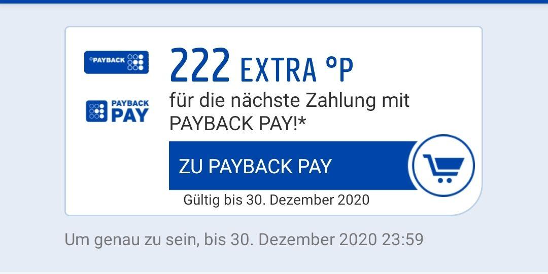 Payback Pay 222 Punkte geschenkt bei Zahlung damit. Personalisiert.