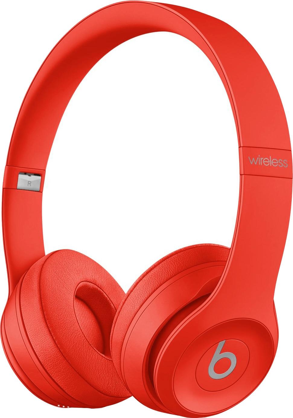 Beats by Dr. Dre Solo3 Wireless On-Ear-Kopfhörer rot (Bluetooth, ~40h Akkulaufzeit, Micro-USB, Klinke, Mikrofon, faltbar, 215g)