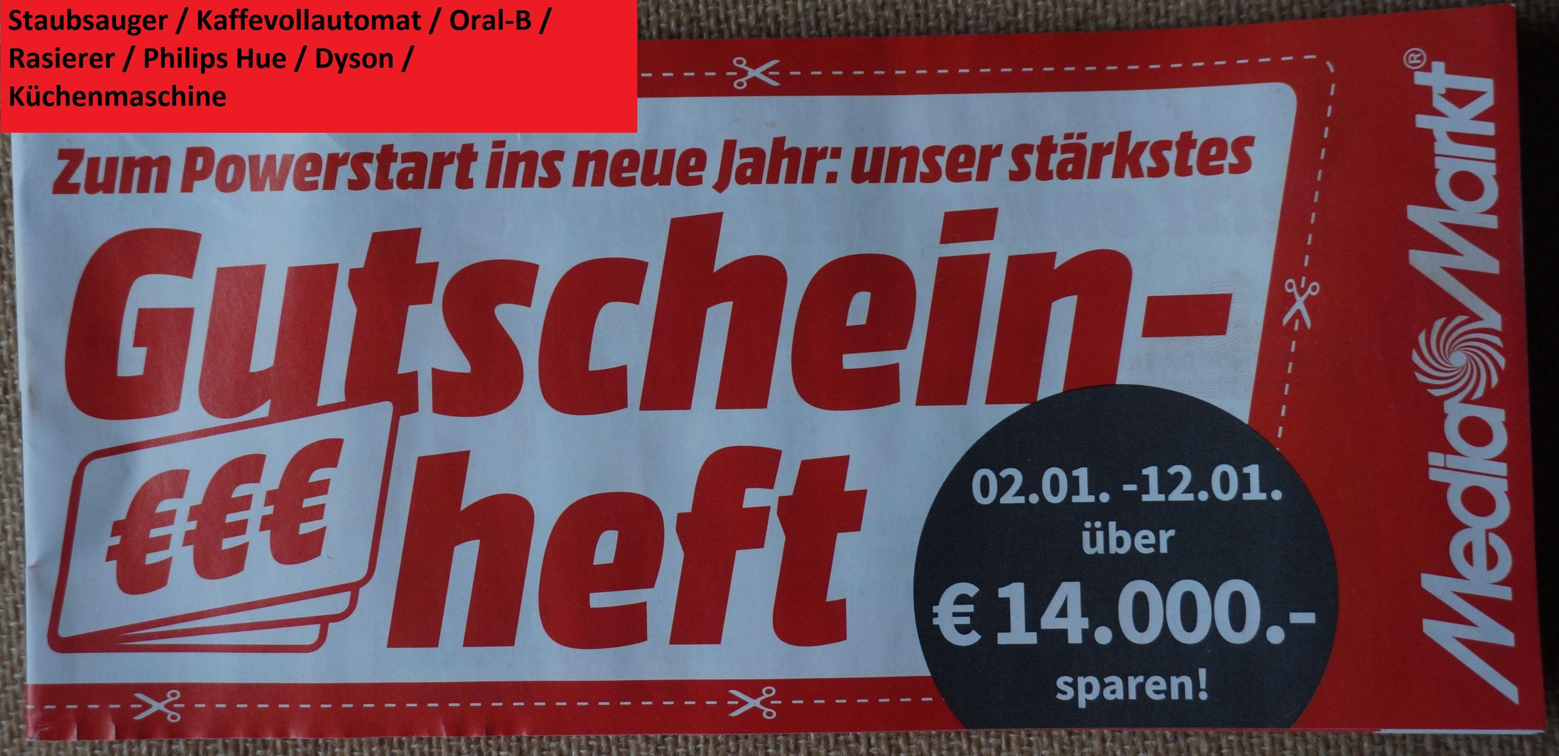 [Media Markt] Nur Online - Gutschein Heft: Dyson / Philips Hue / Oral-B / Sodapop / Kleinelektro gültig 02.01.2021 - 12.01.2021