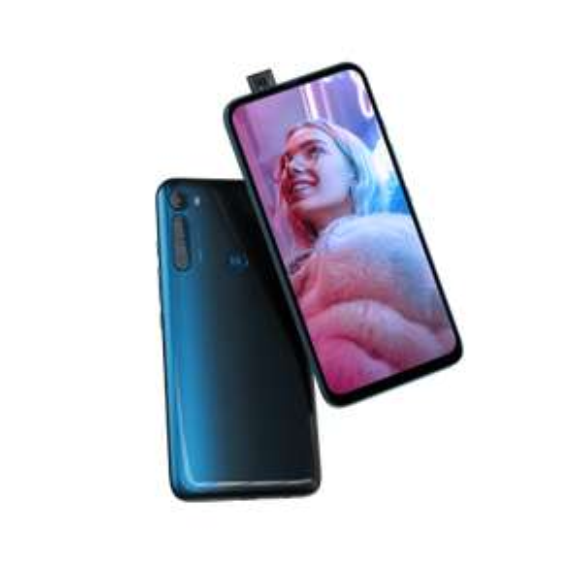 Motorola One Fusion plus - Twilight Blue - 128 GB Speicher - GB RAM - inkl. kabellose Kopfhörer/ einer Soundbox