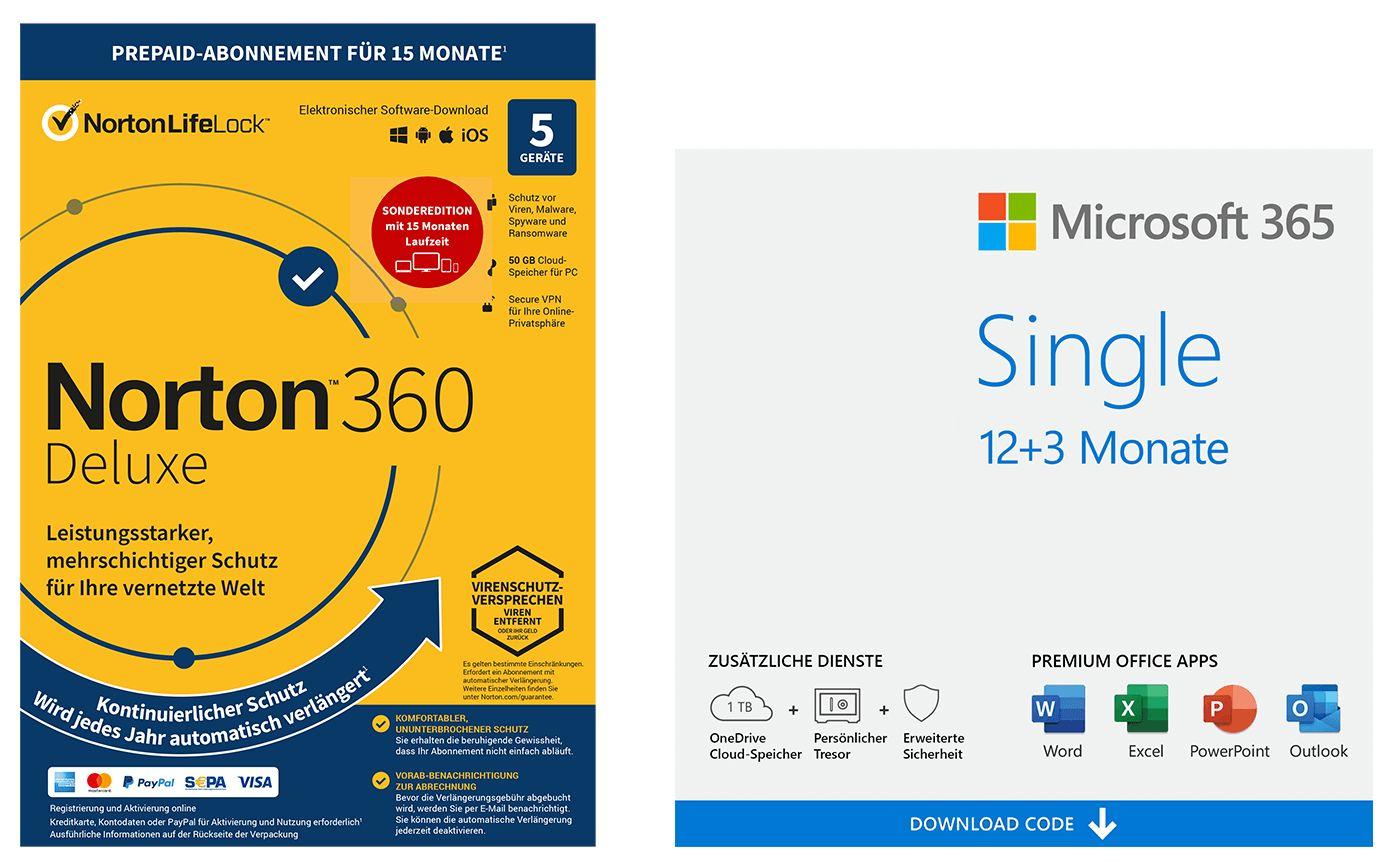NBB-Wochenangebote [KW52]: z.B. 15 (!) Monate Microsoft 365 Single (1 Gerät) + Norton 360 Deluxe (5 Geräte)   Adobe Photoshop Elements 2021