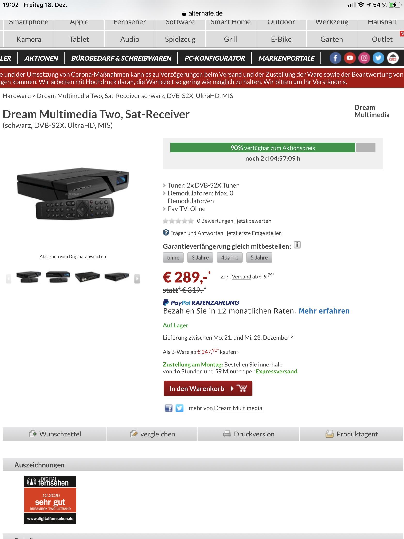 Dream Multimedia Two, Sat-Receiver